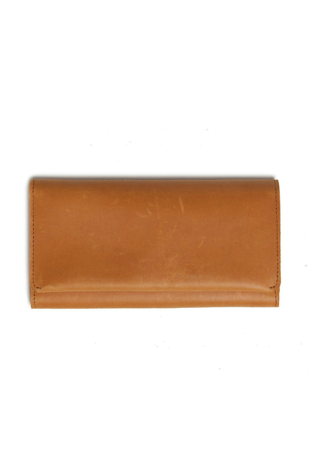 Able Debre Leather Foldover Wallet - Front Cropped Image
