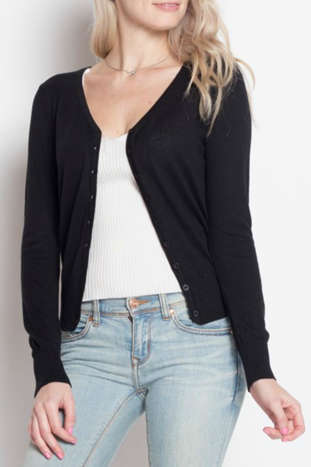 debut V-Neck Cardigan - Main Image