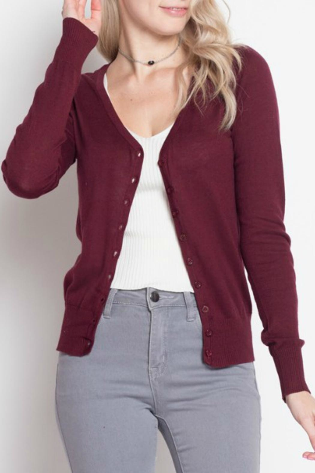 debut V-Neck Cardigan - Front Cropped Image