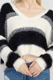 debut Fuzzy Stripe Sweater - Side cropped