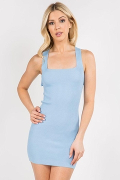 debut Ribbed Cross Back Dress - Product List Image