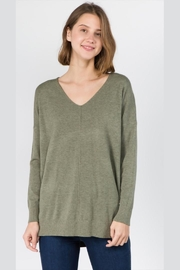 debut Soft-Olive Front-Seam Sweater - Product Mini Image