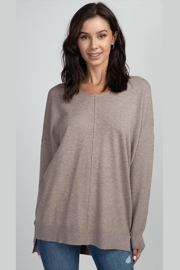 debut Soft-Seam-Front Mocha Sweater - Product Mini Image
