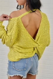 debut Twist Back Sweater - Product Mini Image