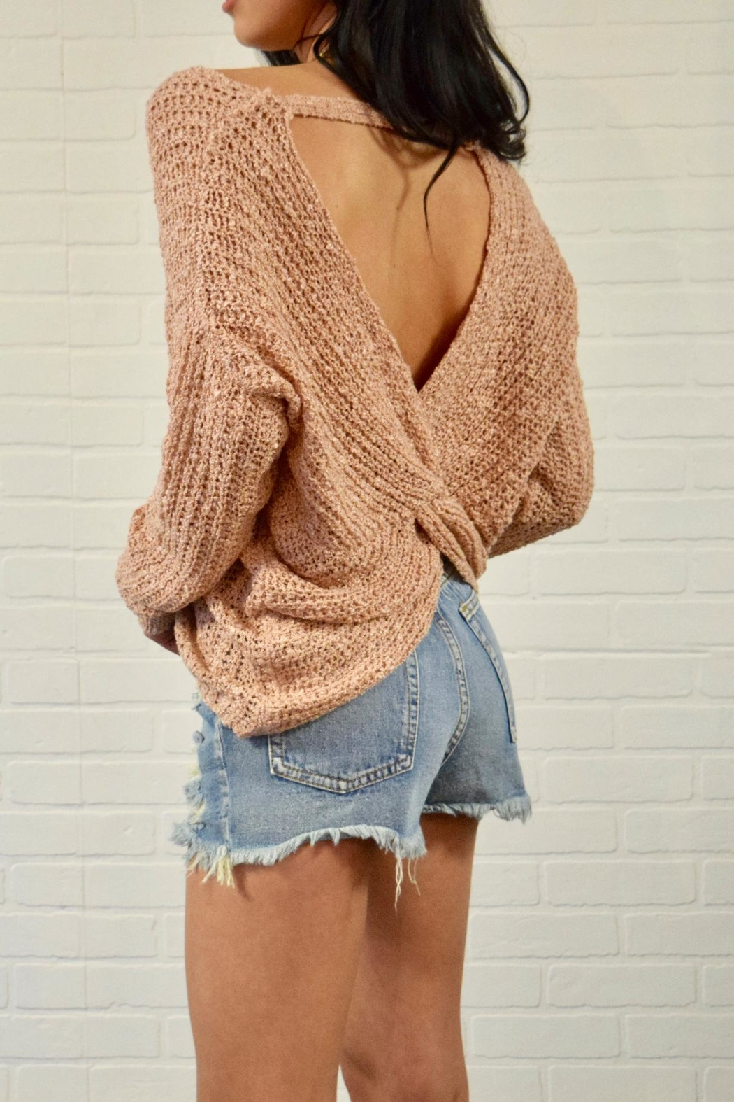 debut Twist Back Sweater - Front Cropped Image
