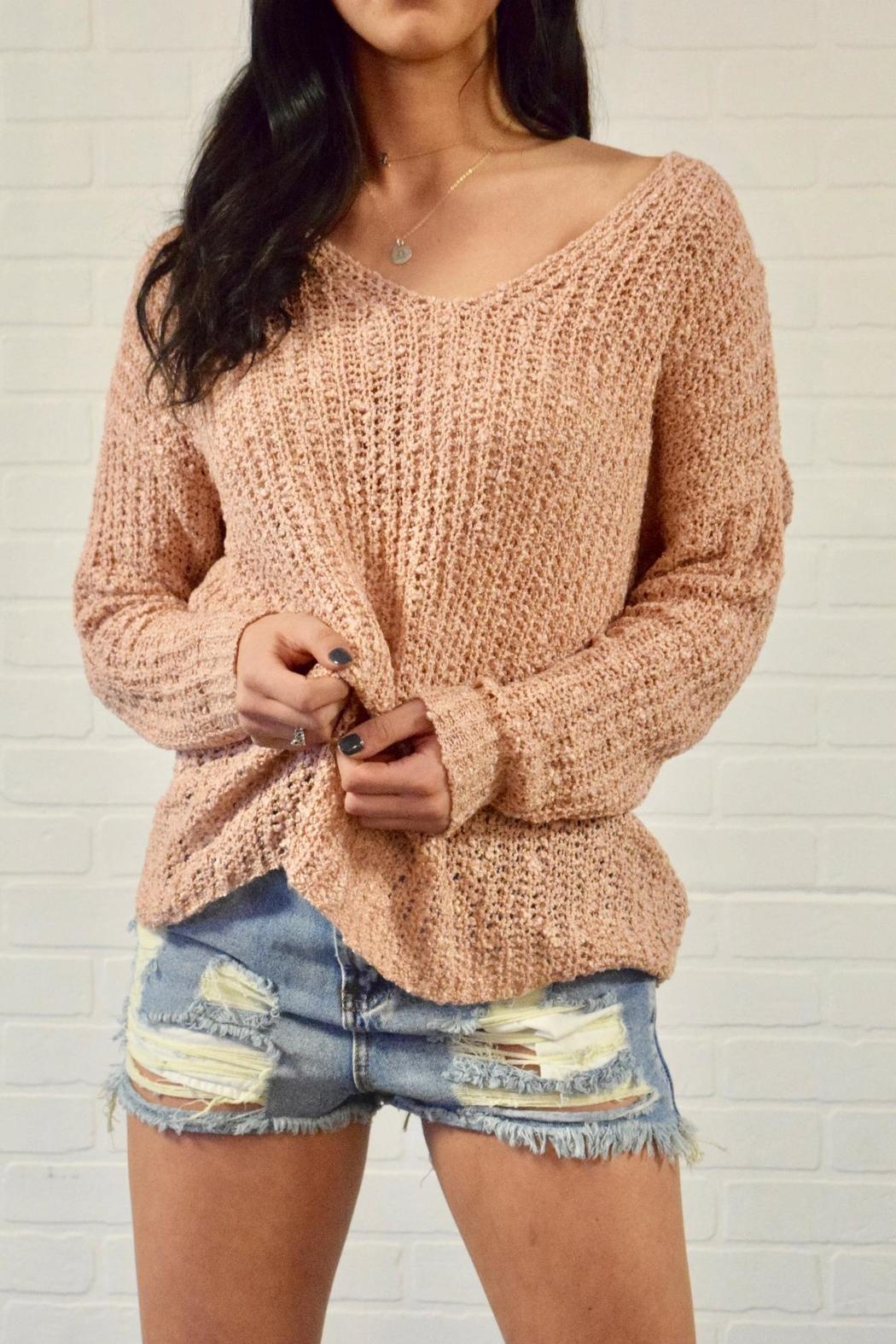 debut Twist Back Sweater - Front Full Image