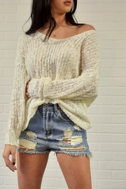 debut Twist Back Sweater - Front cropped