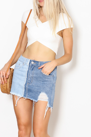 debut Wrap Crop Top - Product Mini Image