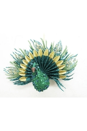 "December Diamonds 9"" Sequin Peacock Ornament - Product Mini Image"