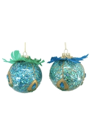 December Diamonds Assorted Feather Ball Ornament - Product Mini Image