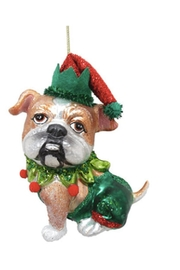 December Diamonds Bulldog Jester Ornament - Product Mini Image