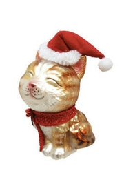 December Diamonds Cat With Stocking Ornament - Product Mini Image