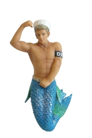 December Diamonds Collectible Merman Ornament - Front cropped