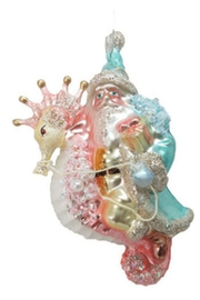 December Diamonds Santa & Seahorse Ornament - Product Mini Image