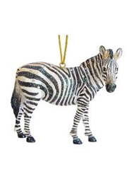 December Diamonds Zebra Ornament - Front cropped