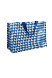 Deck The Halls Houndstooth Jute Totes - Side cropped