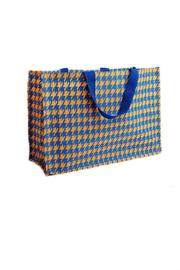 Deck The Halls Houndstooth Jute Totes - Front full body