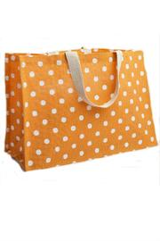 Deck The Halls Jute Tote Polkadot - Front full body
