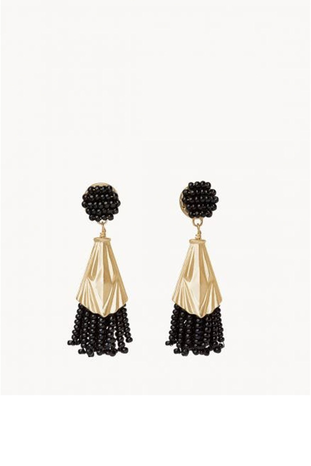 Spartina 449 Deco Beaded Tassel Earrings - Front Cropped Image
