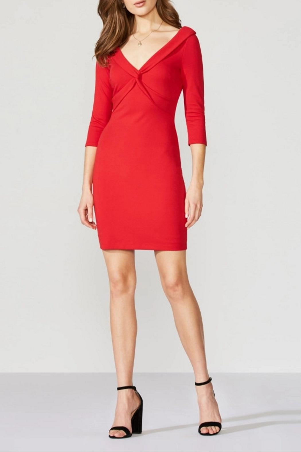 Bailey 44 Decollete Ponte Dress - Front Cropped Image