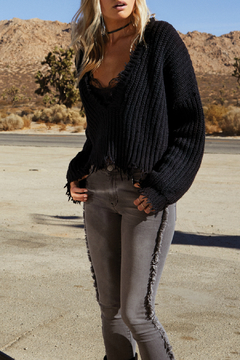 Shoptiques Product: Deconstructed V Neck Sweater