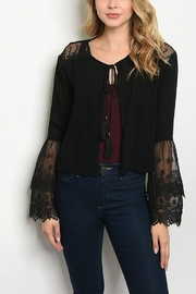 Lyn -Maree's Decorative Lace Cardigan - Front cropped