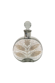 Creative Coop Decorative Mercury Glass Bottle w/ Crystal Stopper - Product Mini Image