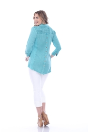 Parsley & Sage Decorative Stitched Blouse - Front full body