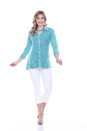 Parsley & Sage Decorative Stitched Blouse - Product Mini Image