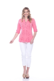 Parsley & Sage Decorative Stitched Blouse - Front cropped
