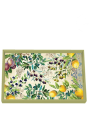 Michel Design Works Tuscan Grove Decoupage Wooden Vanity Tray - Front cropped