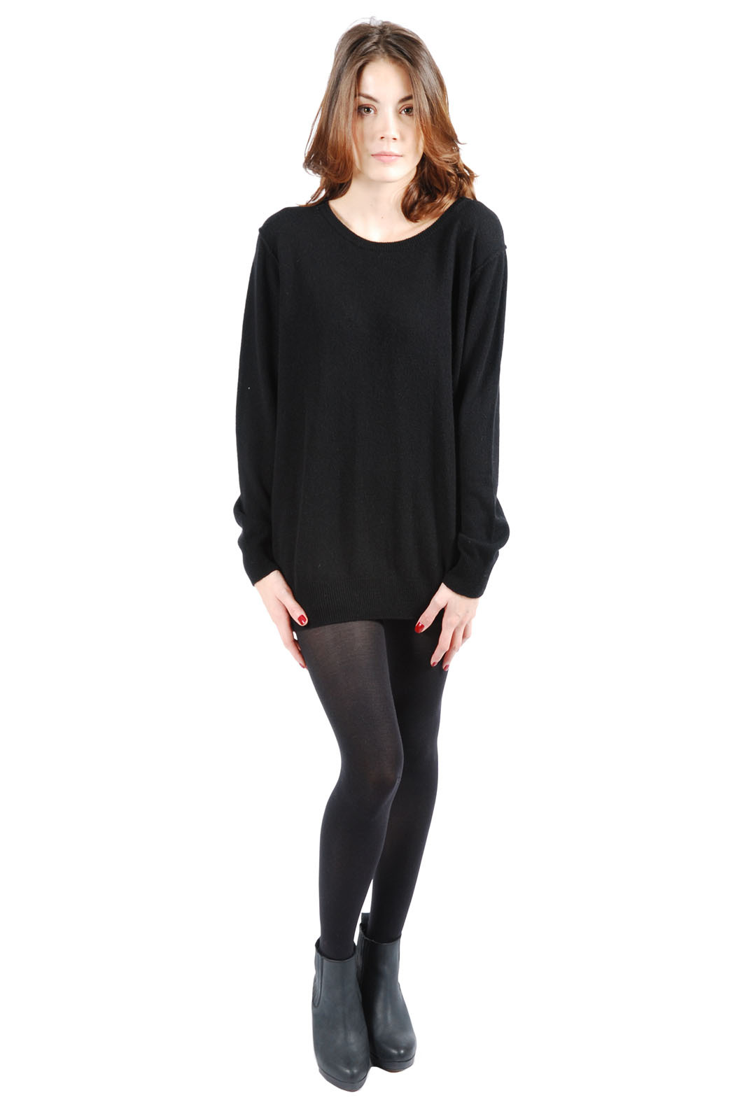 Mimi's Beer Oversized Round Neck Sweater - Front Full Image