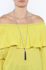 Dee Dee Style Pearl Button Necklace - Back cropped