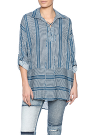 Dee Elle Blue Stripe Tunic - Product Mini Image