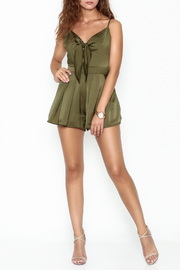 Dee Elle Knot Front Romper - Product Mini Image