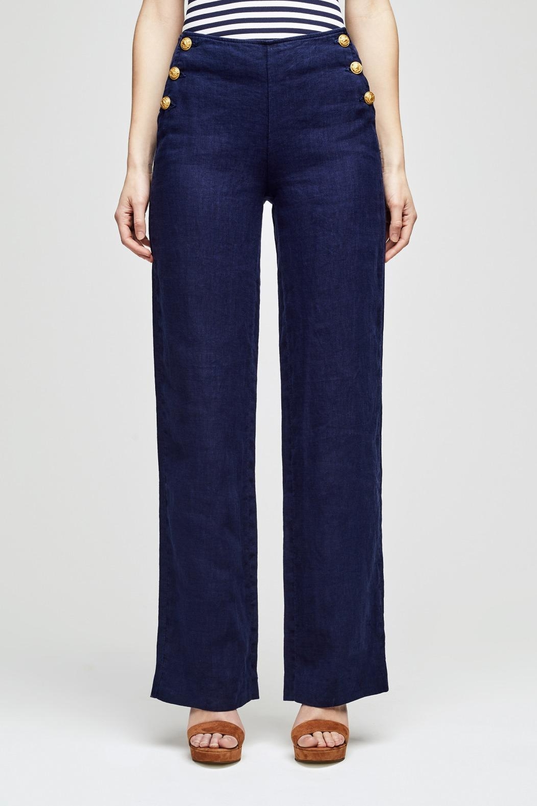L'Agence Dee Sailor Pant - Front Cropped Image