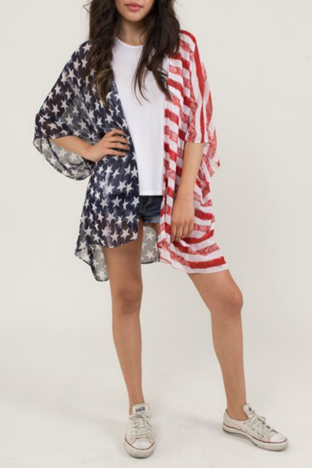 71591c0ca Dee Elle American Flag Kimono from Alabama by Southern Blessings ...