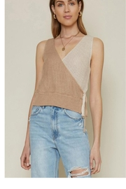 Dee Elle Colorblock Sweater Tank - Product Mini Image