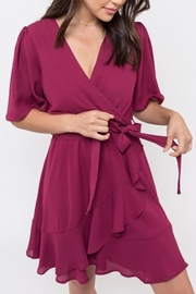 dee elle/for sienna Ruffle Wrap Dress - Product Mini Image