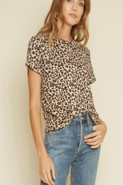 Dee Elly Animal Print Blouse - Product Mini Image