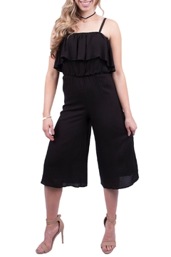 Shoptiques Product: Black Ruffle Jumper