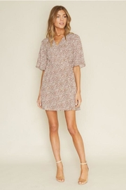 Dee Elly Brown Polka-Dot Dress - Front cropped