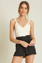 Dee Elly Deep-V Cami, Ivory - Product Mini Image