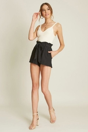 Dee Elly Deep-V Cami, Ivory - Front full body