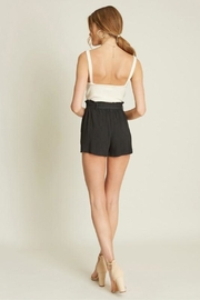 Dee Elly Deep-V Cami, Ivory - Side cropped