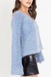 Dee Elly Fuzzy Bell-Sleeve Sweater - Product Mini Image