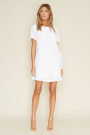 Dee Elly Knot Shirt-Dress, White - Product Mini Image