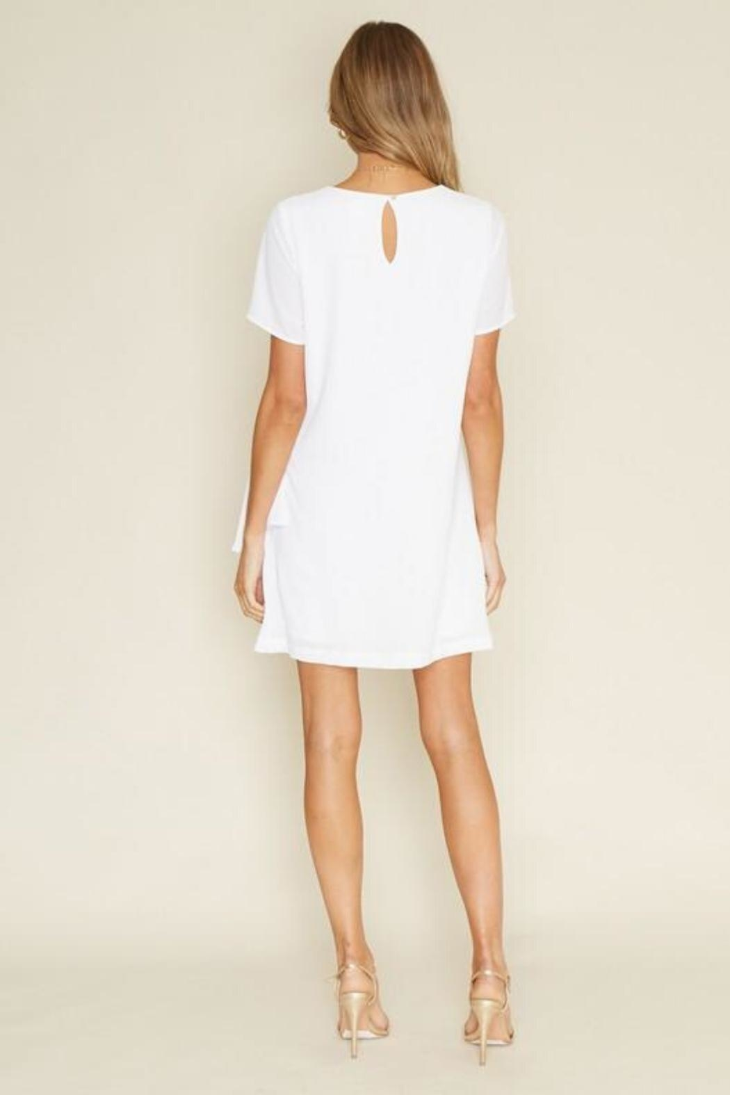 Dee Elly Knot Shirt-Dress, White - Front Full Image