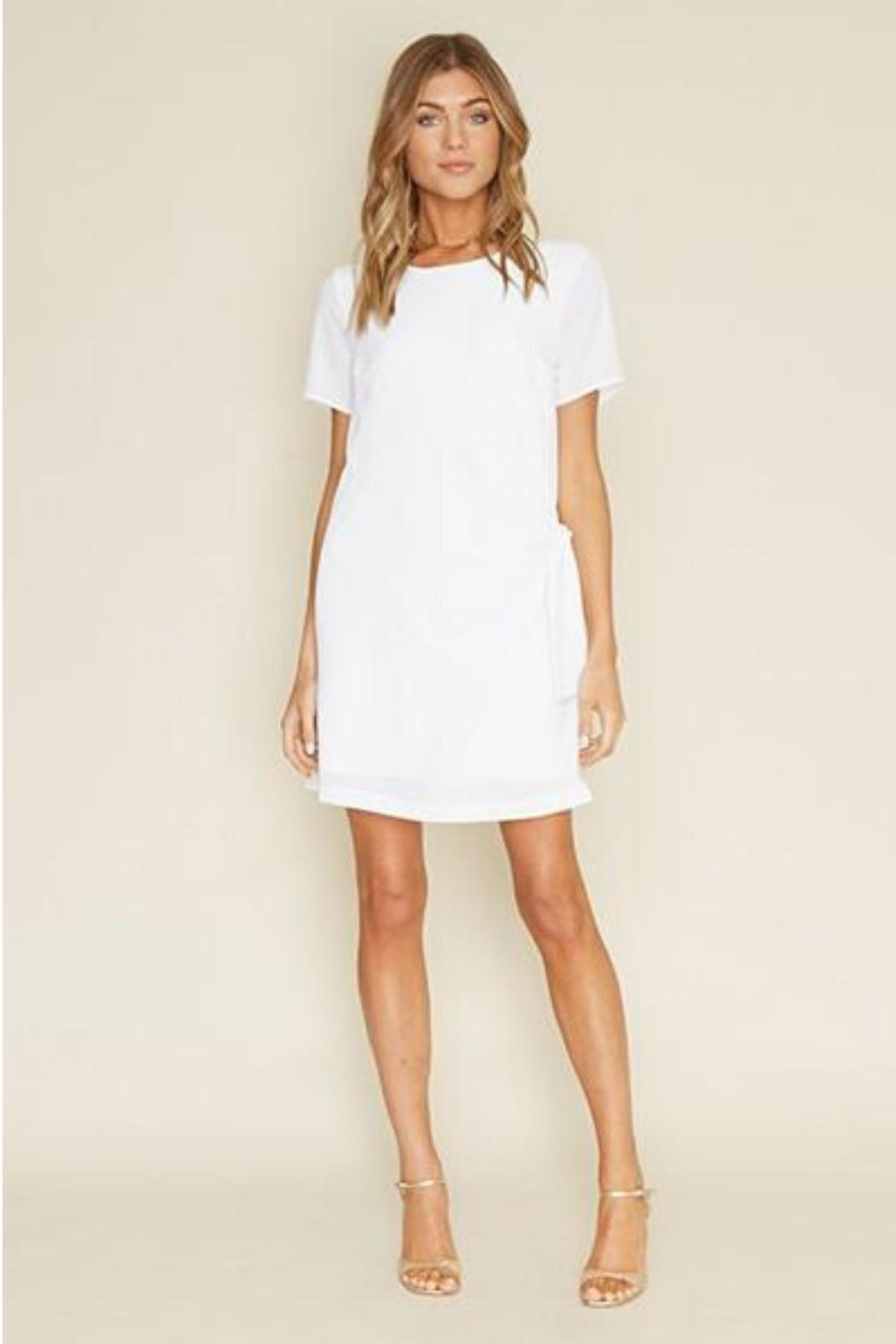 Dee Elly Knot Shirt-Dress, White - Side Cropped Image