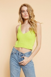 Dee Elly Neon Knit Top - Product Mini Image
